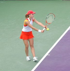 Alize Cornet at the 2008 Sony Ericsson Open