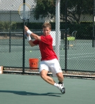 Ricardas Berankis training at the Nick Bollettieri Tennis Academy