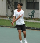 Yuki Bhambri training at the Nick Bollettieri Tennis Academy