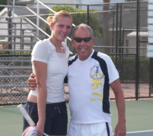 Nicole Vaidisova and Nick Bollettieri