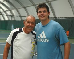 Nick Bollettieri and Taylor Dent