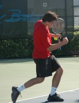Taylor Dent training at the Nick Bollettieri Tennis Academy