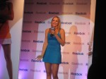 Nicole Vaidosva helps to launch a new product line for Reebok in India