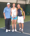 Nick Bollettieri with Sabine Lisicki and her father