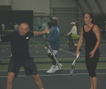 Jelena Jankovic and her coach at the Nick Bollettieri Tennis Academy