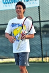 Kei Nishikori at the Mark Knowles Celebrity Tennis Invitational