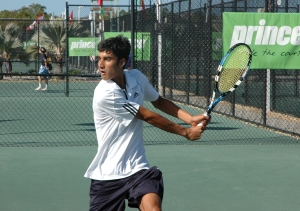 Yuki Bhambri at the Nick Bollettieri Tennis Academy