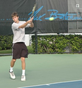 American Ryan Harrison training at the IMG Bollettieri Tennis Academy in January 2009