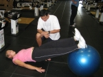 Jelena Dokic working with Yutaka Nakamura at the IMG Performance Institute