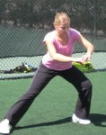 Jelena Dokic training at the IMG Performance Institute
