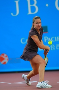Michelle Larcher de Brito won her second round match at the 2009 French Open