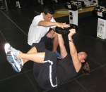 Mary Pierce working with Yutaka Nakamura at the IMG Performance Institute