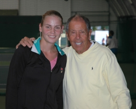 Nick and Jelena Dokic at the Nick Bollettieri Tennis Academy