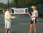 Daniela Hantuchova trainining at the Nick Bollettieri Tennis Academy