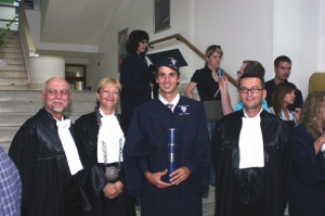 Mario Ancic after receiving his law degree
