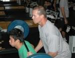 Kei Nishikori training with Dave Langworthy