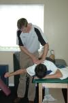 Kei Nishikori undergoing rehab with Graeme Laurison
