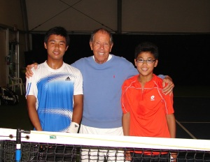 Nick with Hyeon and Hong Chung