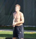 Jordan Cox training at the IMG Bollettieri Tennis Academy