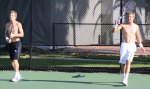 Jordan Cox & Tenys Sandgren training at the IMG Bollettieri Tennis Academy