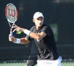 Max Mirnyi training at the IMG Bollettieri Tennis Academy
