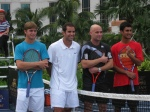 The photo shoot for the event with Andre Agassi, Pete Sampras, Yuki Bhambri and myself outside the Venetian Hotel and Resort