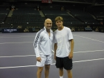 Andre Agassi and Ryan Harrison after our morning practice