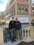 Ben and I during our walk around the Venetian Macao Resort