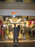 In front of the Nike store at the Venician Macao Shoppes