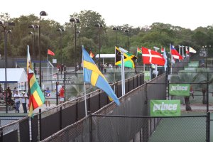 The courts of the IMG Academy Bollettieri tennis program during the Eddie Herr Tournament