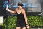 Sabine Lisicki practicing at the IMG Bollettieri Tennis Academy