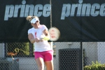 Melanie Oudin practicing at the IMG Bollettieri Tennis Academy